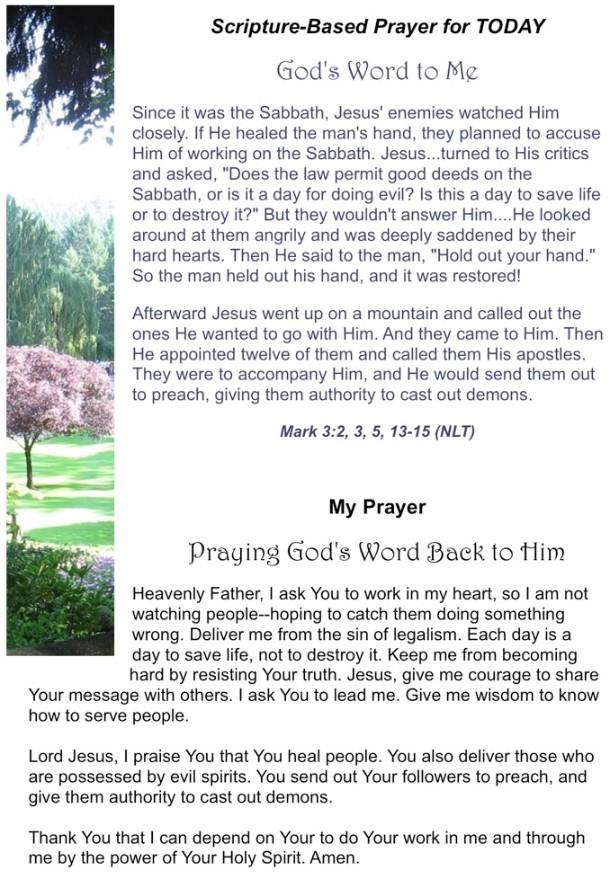 Scripture Prayer Today - Praying God's Word